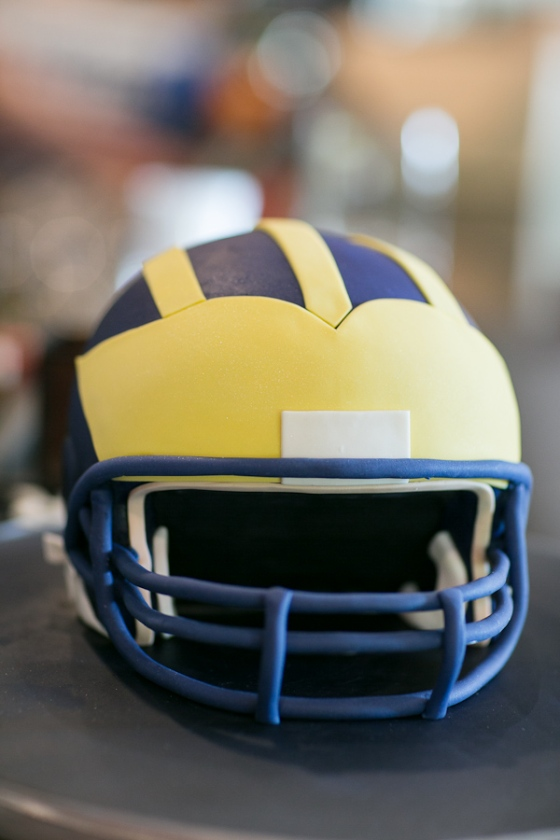 Michigan Helmet Cake
