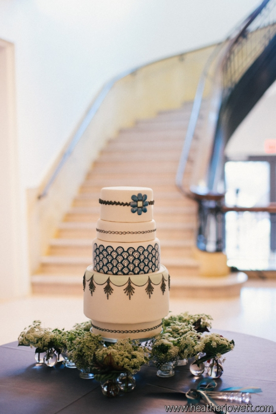 Art Deco Wedding Cake at UMMA made by Sweet Heather Anne