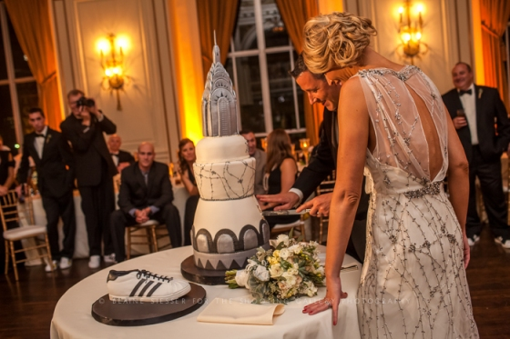 Sweet Heather Anne wedding cake at the Colony Club