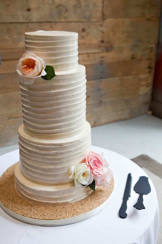 Buttercream Wedding Cake by Sweet Heather Anne