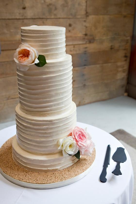 Buttercream Wedding Cake by Sweet Heather Anne