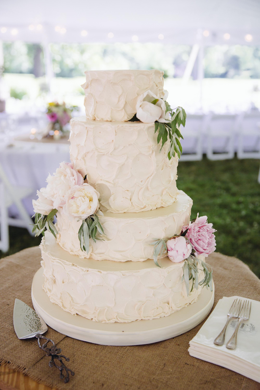 Rustic Buttercream Wedding Cake Monica and brian: rustic
