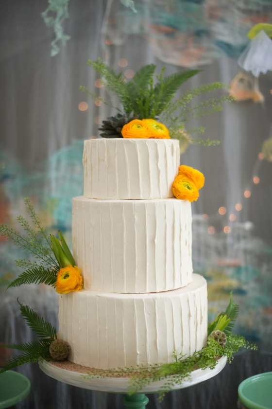 Cake, buttercream cake, flowers, fresh flowers, fresh floral, sea, dessert table, buttercream, buttercream cake, cake, wedding cake, ann arbor, metro detroit,