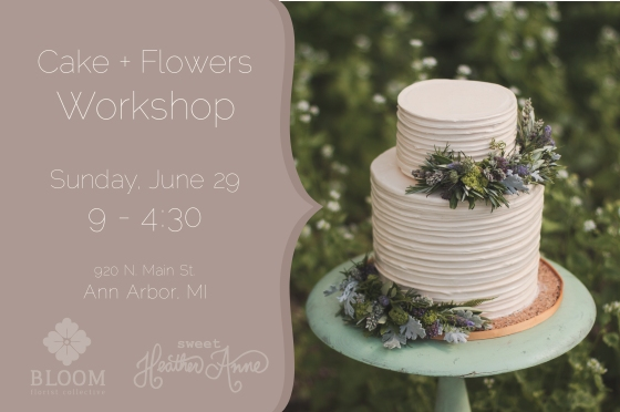 Cake & Flowers Workshop Flyer